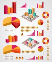 Vector set van infographics elementen