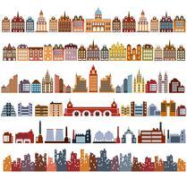 Varianten van huizen vector