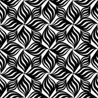 Abstract naadloos patroon Bloemen oosters geometrisch lijnornament vector