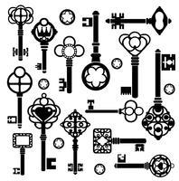 Set sleutels vector