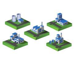 Isometrische fabriek vector