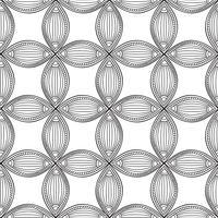 Naadloze bloemmotief. Lineair ornament. Abstracte achtergrond
