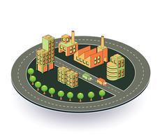 Industrieel bedrijf vector