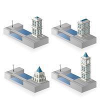 Isometrische huizen vector