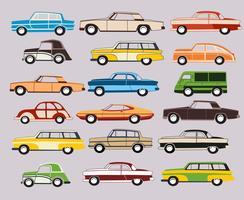 Verzameling van vector oude auto