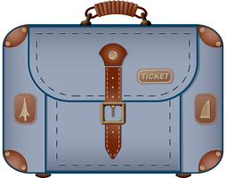 Reistas voor reizen en zakenreizen vector