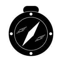 Kompas Glyph Black pictogram