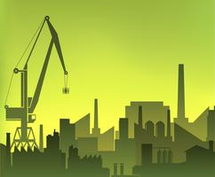 Industriële stad vector