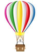 hete lucht ballon vectorillustratie
