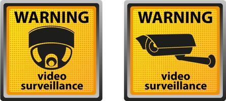 teken waarschuwing van bewakingscamera
