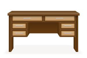 houten tafel meubels vectorillustratie