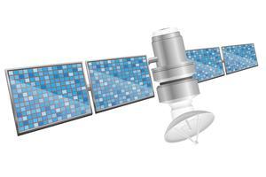 aarde satelliet spoetnik vectorillustratie vector