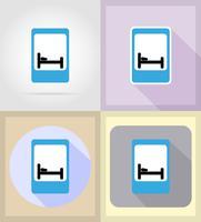 medische objecten en apparatuur plat pictogrammen illustratie vector