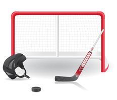 hockey ingesteld vectorillustratie vector