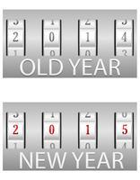 combinatie slot oude en het nieuwe jaar vector illustratie