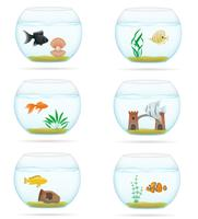 vis in een transparante aquarium vectorillustratie vector
