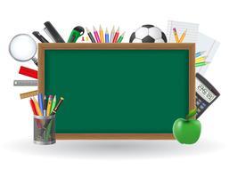 Stel pictogrammen school levert vectorillustratie