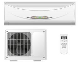 airconditioning splitsen systeem vectorillustratie vector