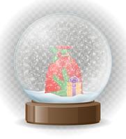 sneeuwbol transparante vectorillustratie vector