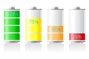 pictogrammen laden batterij vectorillustratie