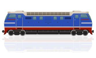 spoorlijn locomotief trein vectorillustratie vector