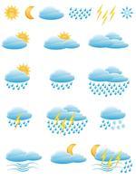 iconen van weer