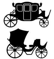 vervoer voor transport van mensen zwarte omtrek silhouet vectorillustratie vector