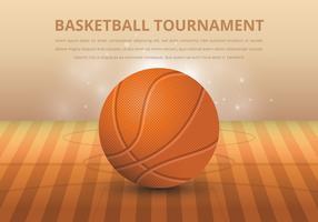 Basketbal realistische afbeelding vector