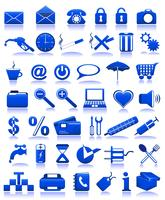 blauwe pictogrammen vector