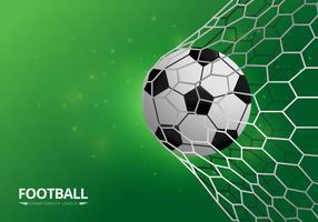 Voetbal realistische illustratie vector