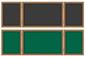 houten schoolbestuur voor het schrijven van krijt vectorillustratie