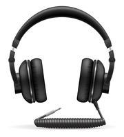 akoestische hoofdtelefoon vectorillustratie