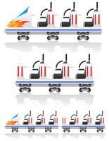 aanhangwagens voor achtbanen vectorillustratie vector