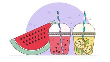 Smoothies en limonade Vector