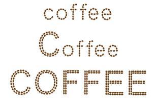 inscriptie van koffie is gemaakt van granen vector illustratie