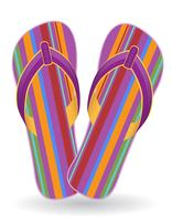 strand flip flops vector illustratie