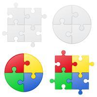 puzzel instellen iconen vectorillustratie
