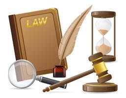 wet iconen vector illustratie