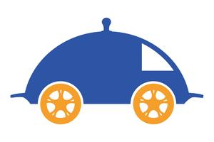 voedsel levering logo vectorillustratie