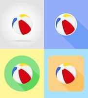 babyspeelgoed en accessoires platte iconen vectorillustratie vector