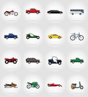 vervoer plat pictogrammen vector illustratie