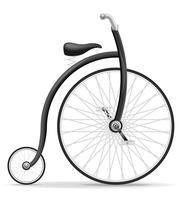 fiets oude retro vintage pictogram voorraad vectorillustratie