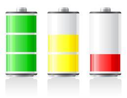 pictogrammen laden batterij vectorillustratie vector