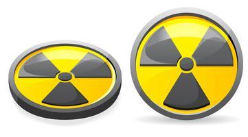 een embleem is een teken van straling vectorillustratie
