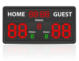 basketbal sport digitale scorebord vectorillustratie vector