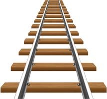 rails met houten dwarsliggers vectorillustratie