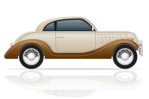 oude retro auto vectorillustratie