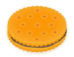 krokant koekje cookie vectorillustratie