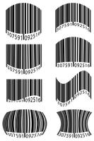 abstracte streepjescode vectorillustratie vector