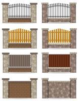 stenen hek vector illustratie